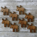 8pc small wooden Reindeer Christmas  craft shapes