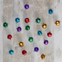 Pack of 20 assorted colour metal bells