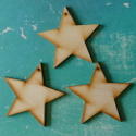 Set of 3 wooden stars
