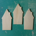 House Shaped decoration/ tag set of 3