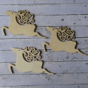 Set of 3 reindeer shapes