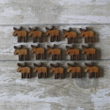 Pack of 18 Mini  Reindeer, colours as shown