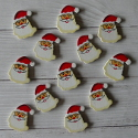 Pack of 12 Wooden Father Christmas Shapes