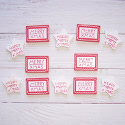 Pack of 12 Red & White Christmas Signs Sentiments