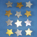 Pack of 12 Gold & Silver Star Shapes (6 of each, as shown)