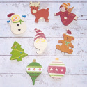 Set of 8 mixed Christmas card topper decorations as shown
