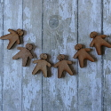 Set of 5plywood mini Gingerbread men with hole to hang