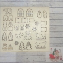 Mini Christmas  Decoration Kit, Trees House  Santa  Sleigh animals snowman, assemble & paint. Not for childen under 3