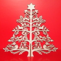 Folk Style Plywood Christmas Tree with slot in Plywod Stand